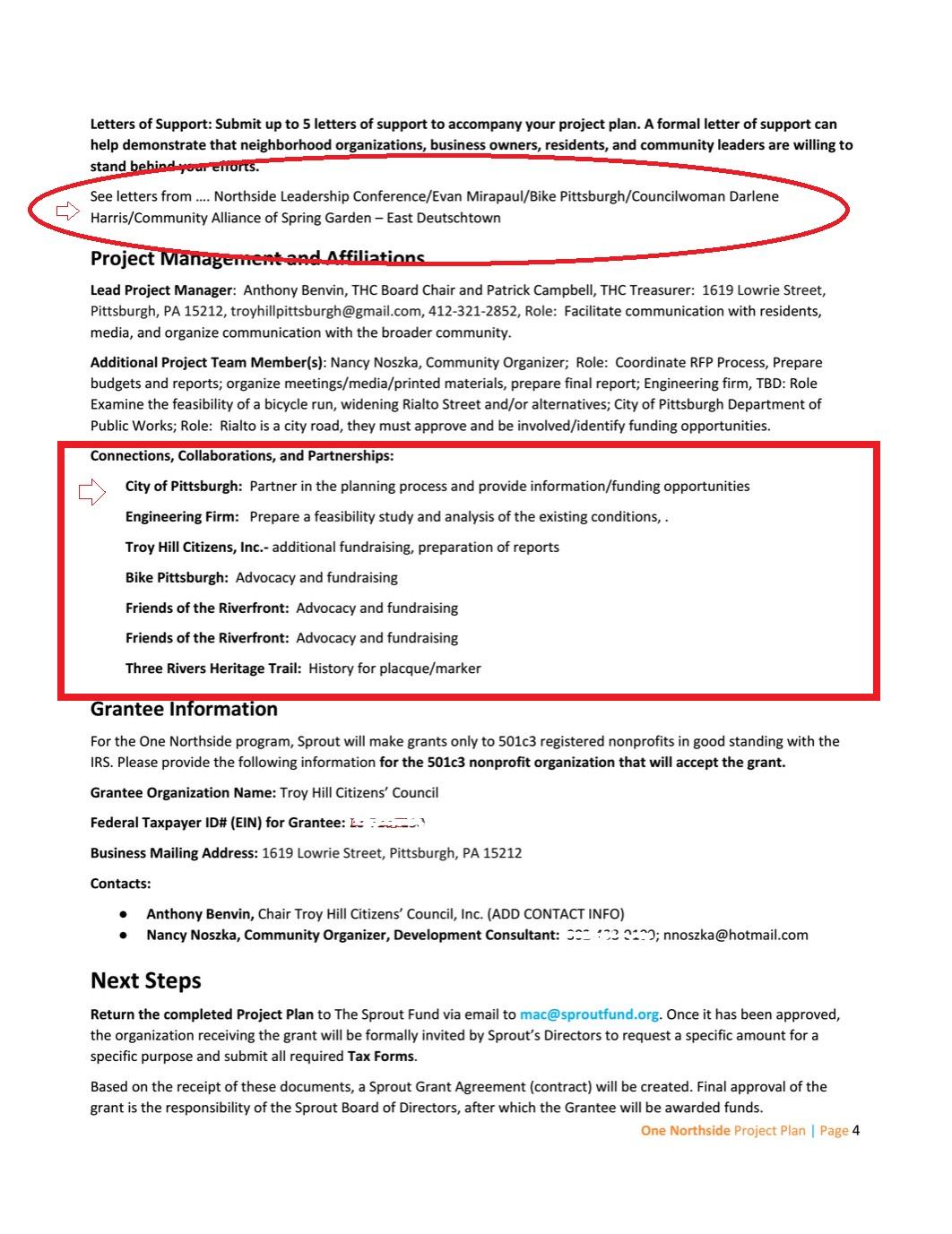 project description page 2