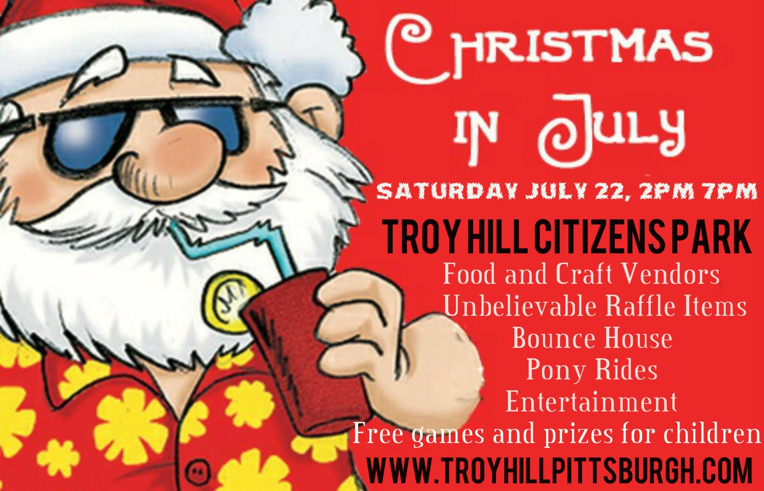 Christmas In July 2017 Flyer